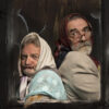 Benny DE GROVE 66 Two Old Spinsters, digital photo composition on Hahnemuhle, 40 x 40 cm, ed 1:5, 2018