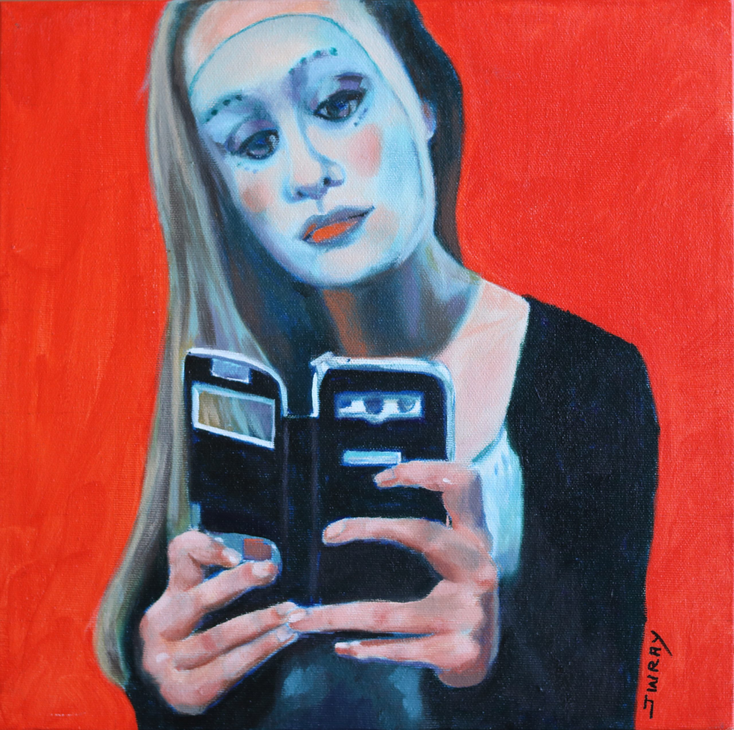 Johanna WRAY SnapChat, Acrylic and Oil on Canvas, 30cm x 30cm