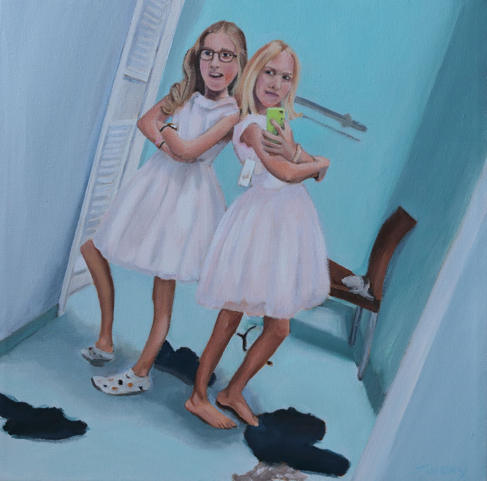Johanna_Wray_Double_Trouble_oil_on_canvas_30x30cm_2019