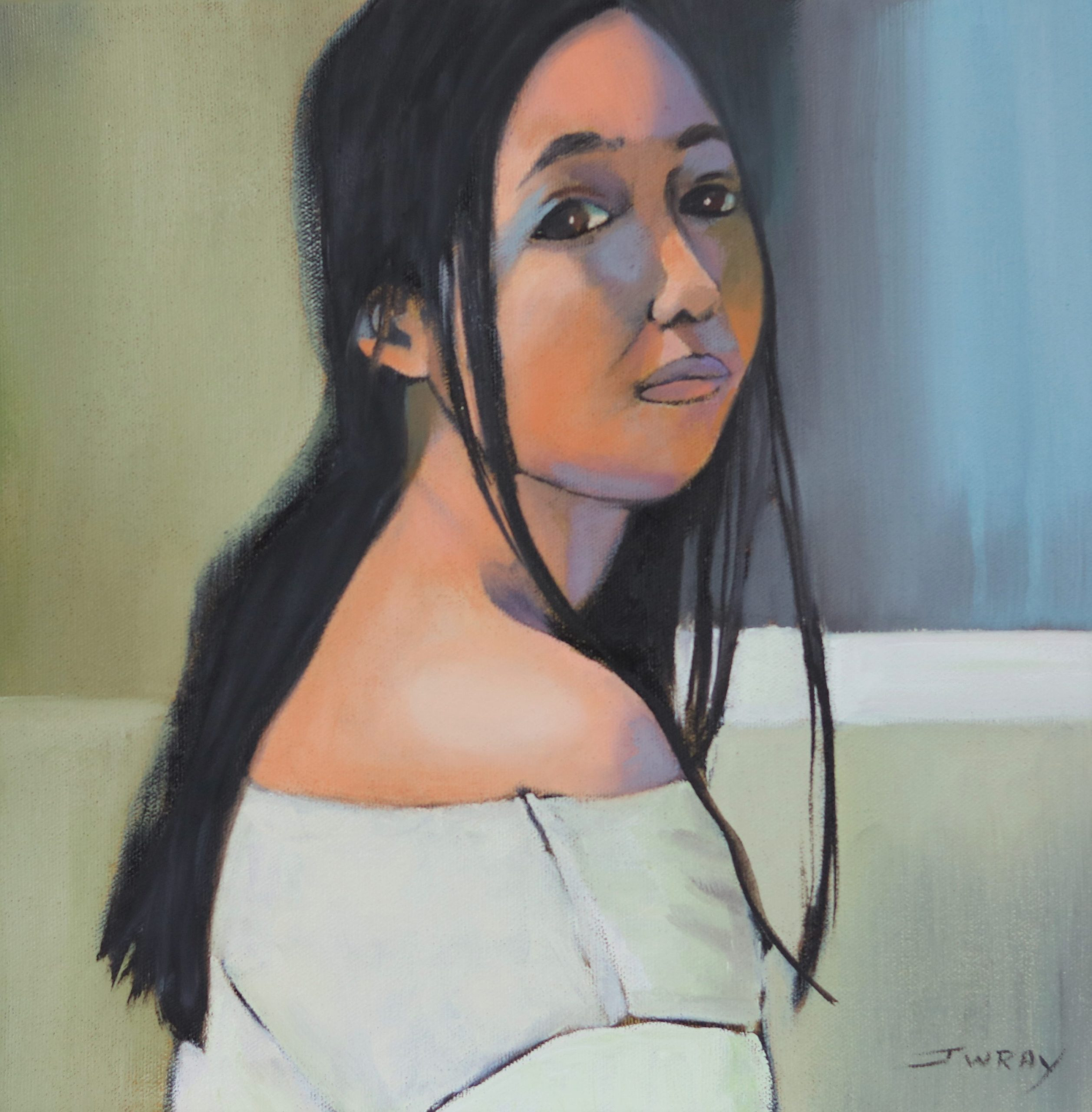 Johanna_Wray_Modern_Mona_oil_on_canvas_30x30cm_2020